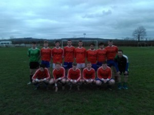 Feenagh Youths with manager Barry Gilbourne